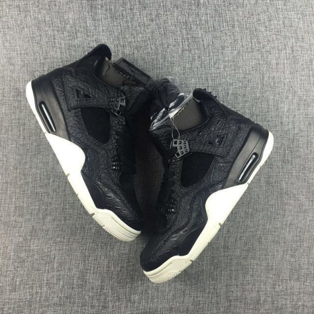c24eb9be105 The Nike Air Jordan 4 Premium Pony Hair Black 819139-010 from NikeShoesZone. com . the shoe Nubuck and mesh materials were installed onto the shoe as  well as ...