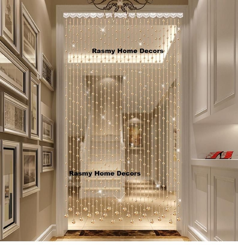 Rasmy Home Decors Customized Crystal Beads Curtain Window Etsy In 2020 Beaded Door Curtains Hanging Door Beads Curtain Decor