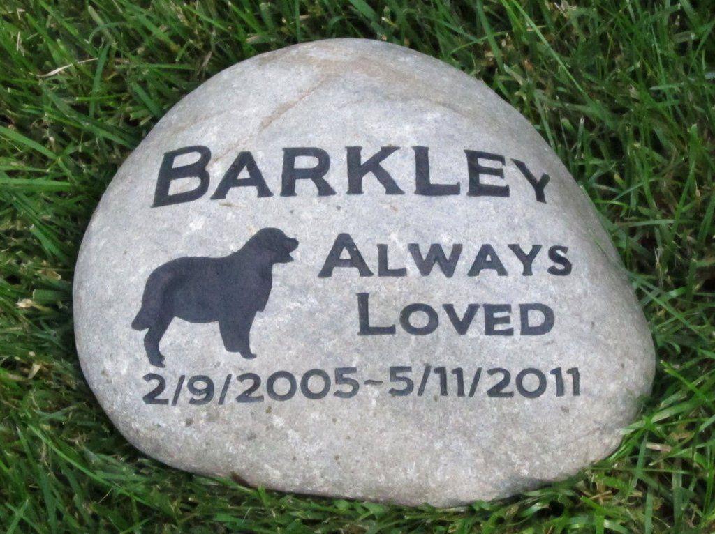 CUSTOM Engraved Dog Memorial Stone Dog Memorials Pet Memorial Stones Grave Marker Pet Stone Memorial Papillon 8-9 Inch Memorial Gifts