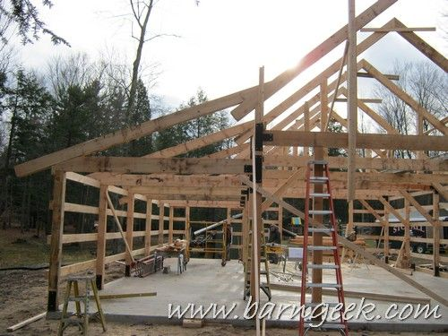 Download these 32x50 gable barn plans and build a barn for Building a lean to roof on a house