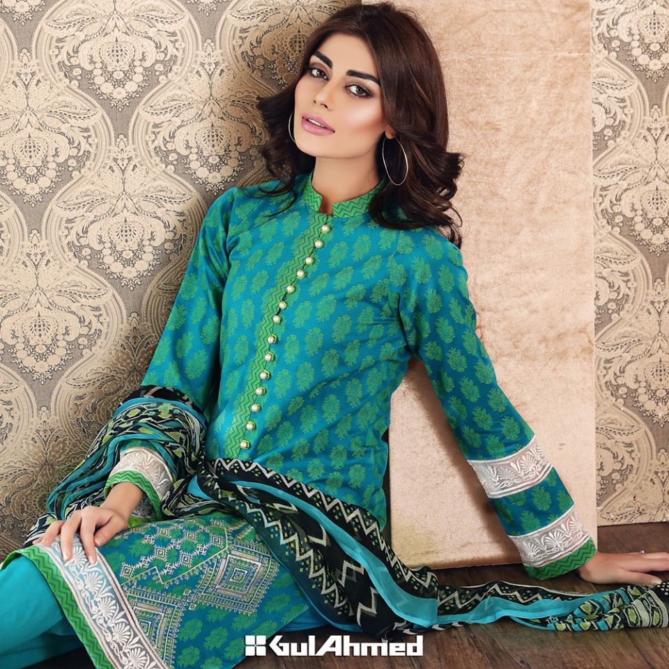 Gul ahmed winter dresses collection 2015 fashionip - Gul Ahmed Summer Embroidered Lawn Collection 2016 2017 Stylesgap Com