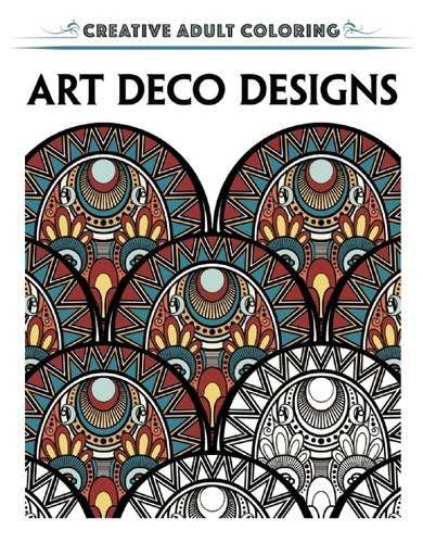 Robot Check Designs Coloring Books Art Deco Design Coloring Book Art