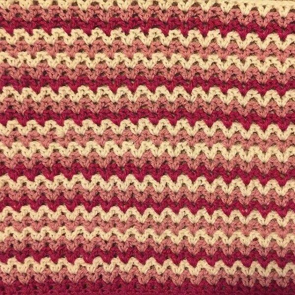 louloudeane crochet v-stitch   Blankets   Pinterest   Ganchillo ...