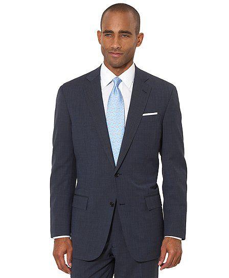 2c240785b5f BrooksCool® Blue Tic Regent Fit Suit - Brooks Brothers