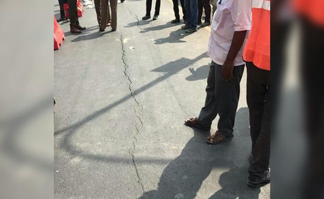 Cracks On Chennai Road Stop Traffic Again 2 Days After Cave-In