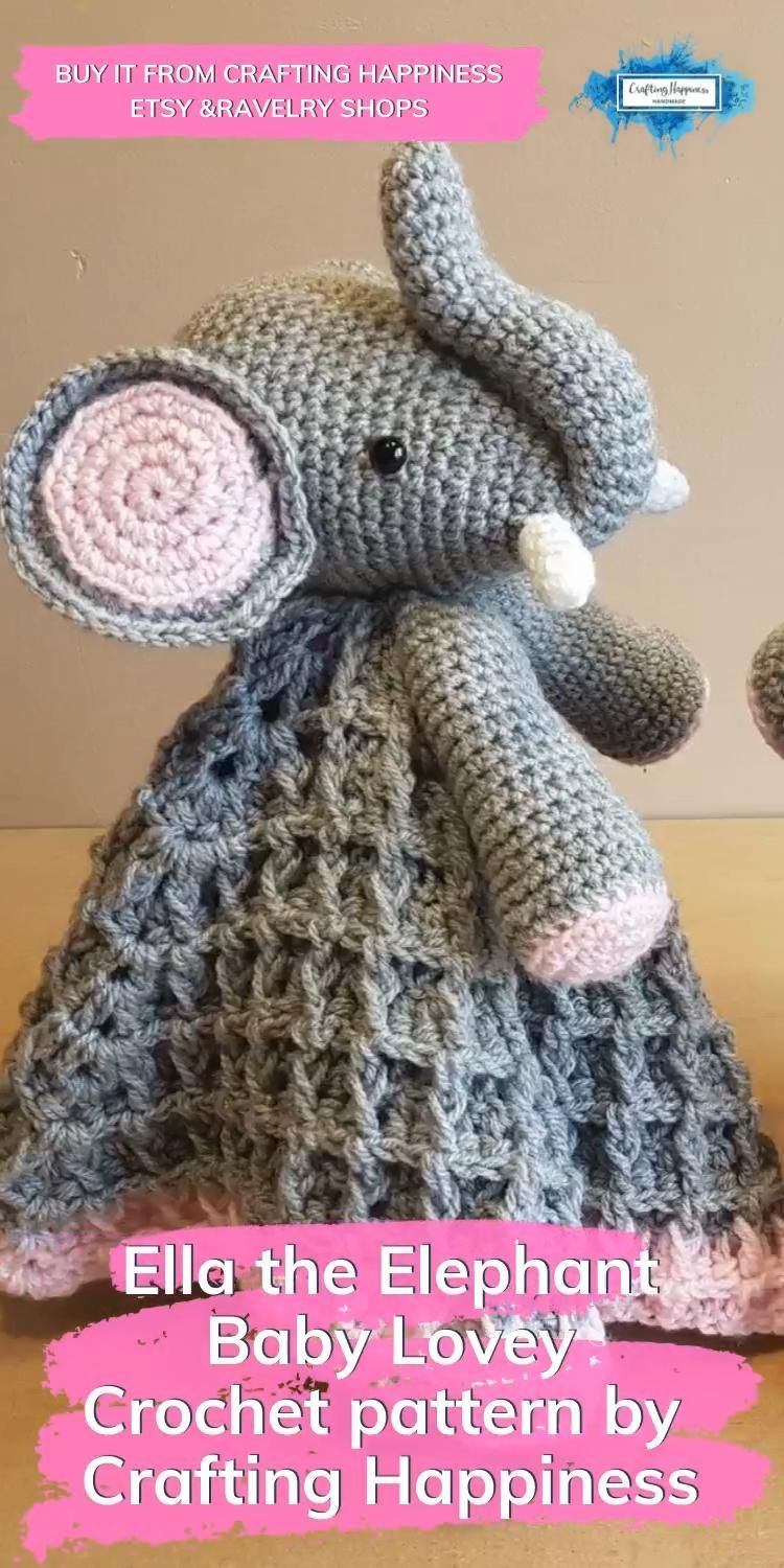 Ella the Elephant Baby Security Blanket | Crafting Happiness