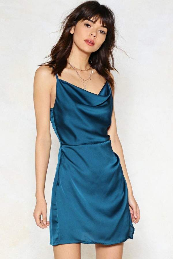 Cowl About Mini Dress Shop Clothes At Nasty Gal
