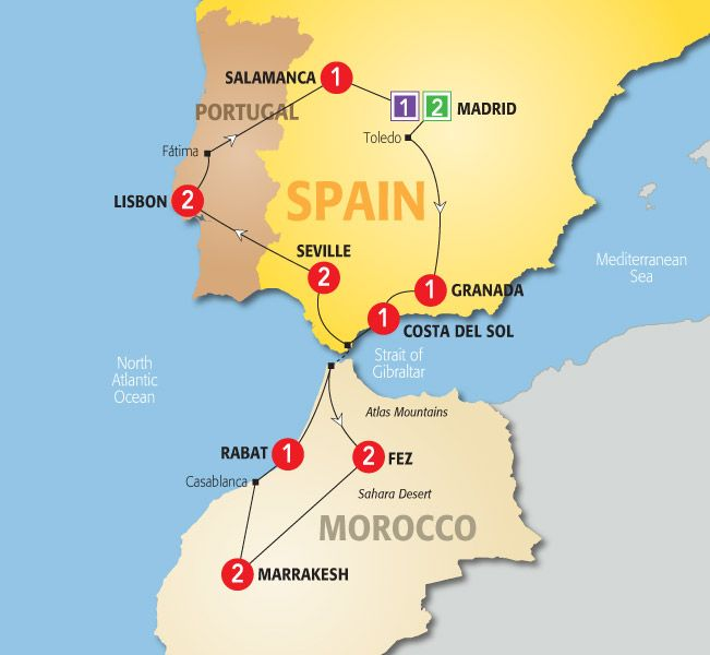 Map Of Spain Morocco.Explore Spain Portugal And Morocco S Intertwined Pasts And Cultures