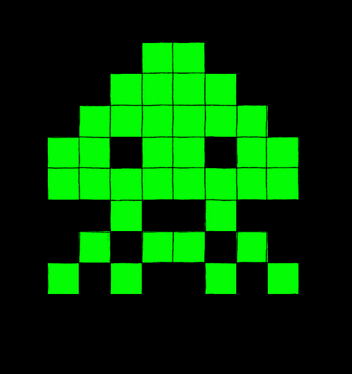 Space Invaders Enemy Type 2 By Maleiva On Deviantart Space Invaders Enemy Deviantart