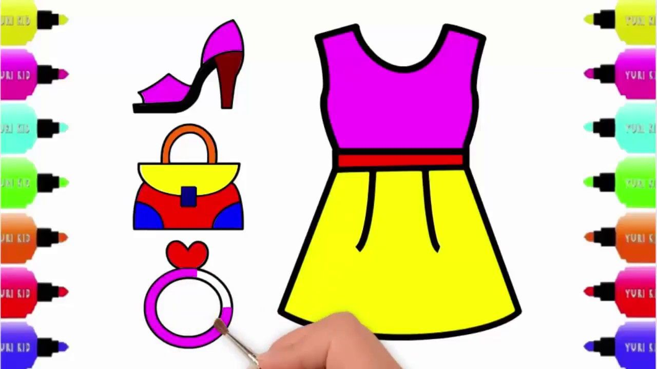 Girls Accessories Drawing Easy Step for Kids Womens Dress ...