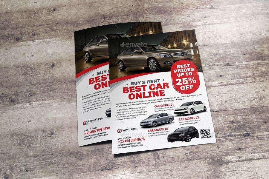 Automotive Car Sale Rental Flyer Ad v7 - car sale flyer