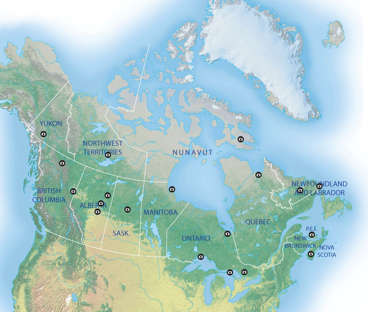 Canadian Map Territories%0A Map  The future of science in Canada u    s North  Best places in Canada to view