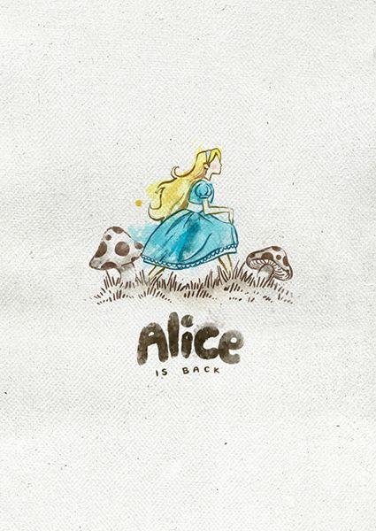Illustrations by Andrés Moncayo, #Alice in #Wonderland - #Alicia en el #Paísdelasmaravillas