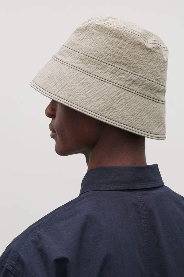 a531285d8 Cos TOPSTITCHED SEERSUCKER BUCKET HAT   Products in 2019 ...