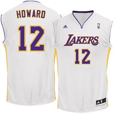 Adidas Dwight Howard Los Angeles Lakers Revolution 30 Replica Performance Jersey White Fanatics Dwight Howard Jersey Los Angeles Lakers