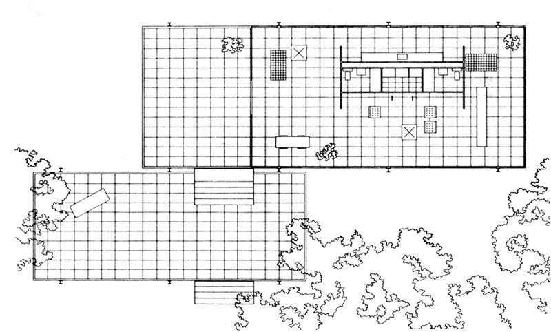 the farnsworth house floor plan