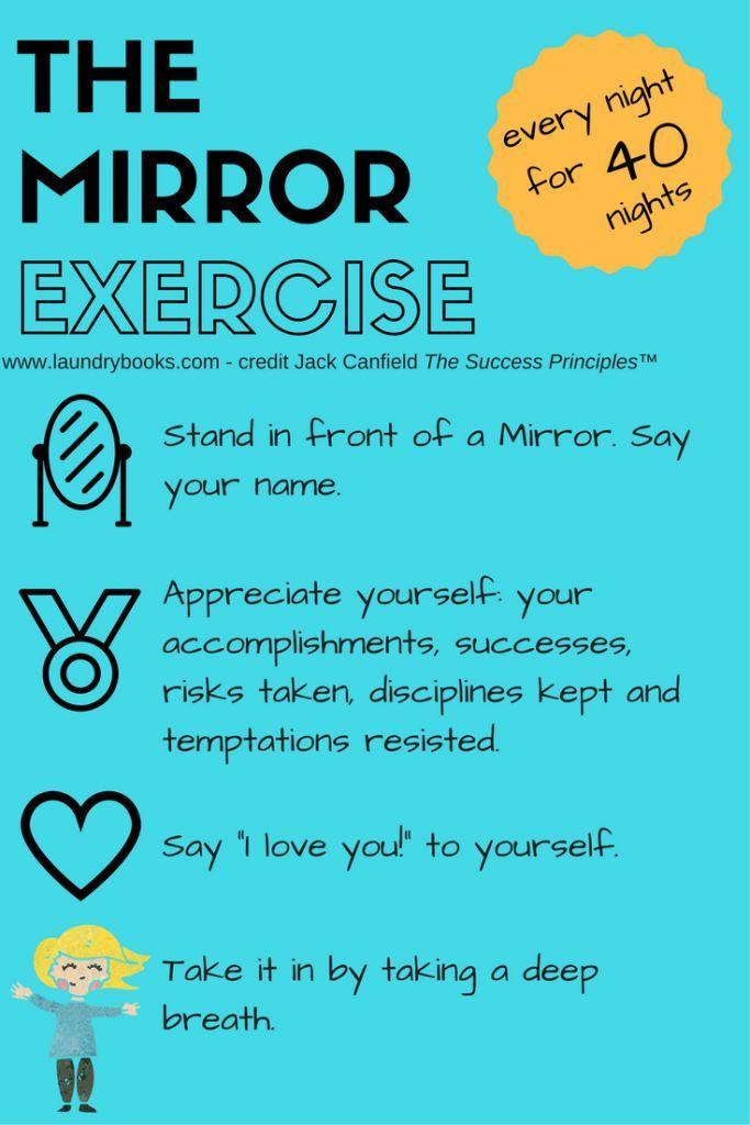 Mirror exercise for building self-esteem. Good for kids