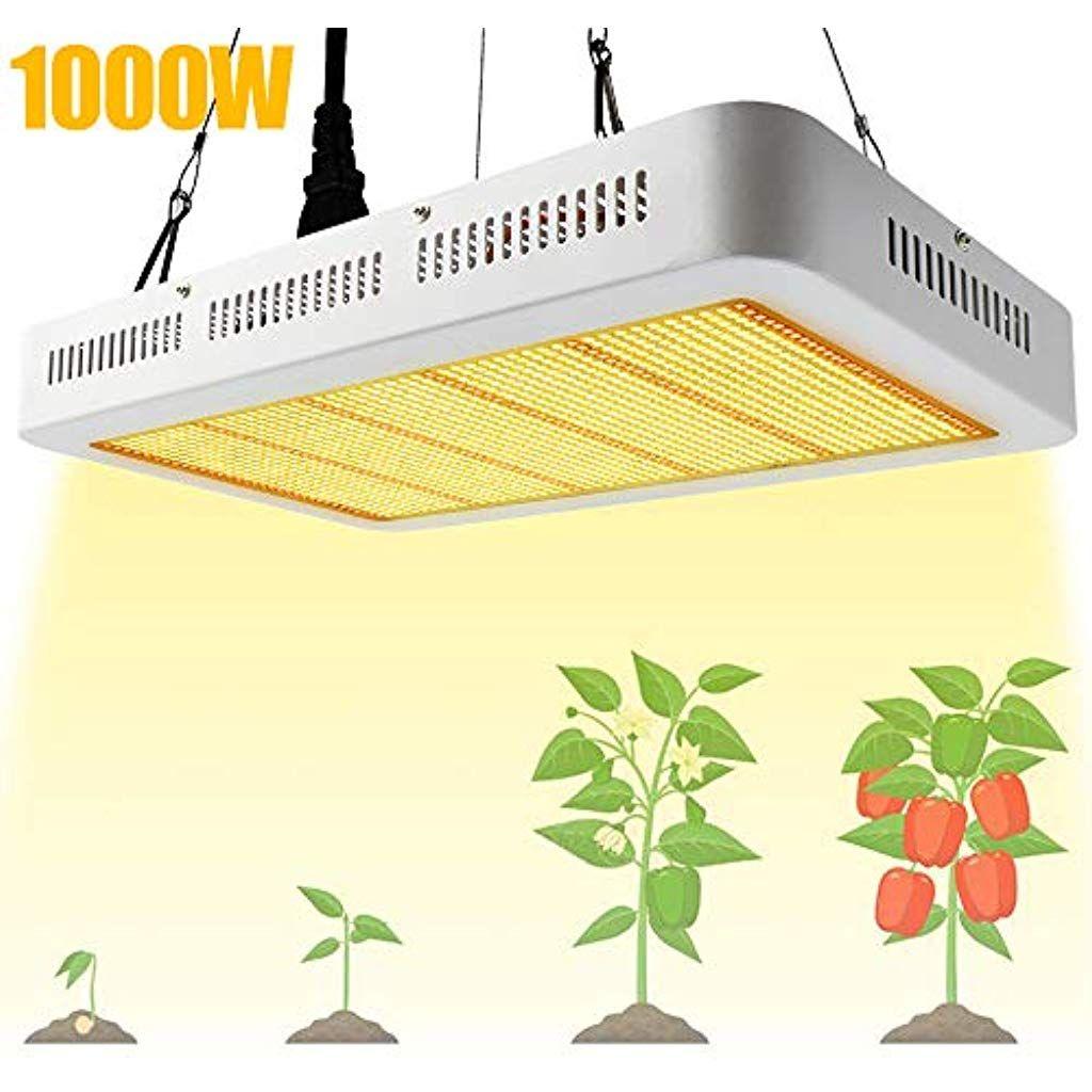 Derlights Led Pflanzenlampe 1000w Grow Lampe Pflanzenlicht Vollspektrum Led Grow Light Mit Ir Uv Wachstumslampe Fur Led Pflanzenlampe Pflanzenlampe Grow Lampe
