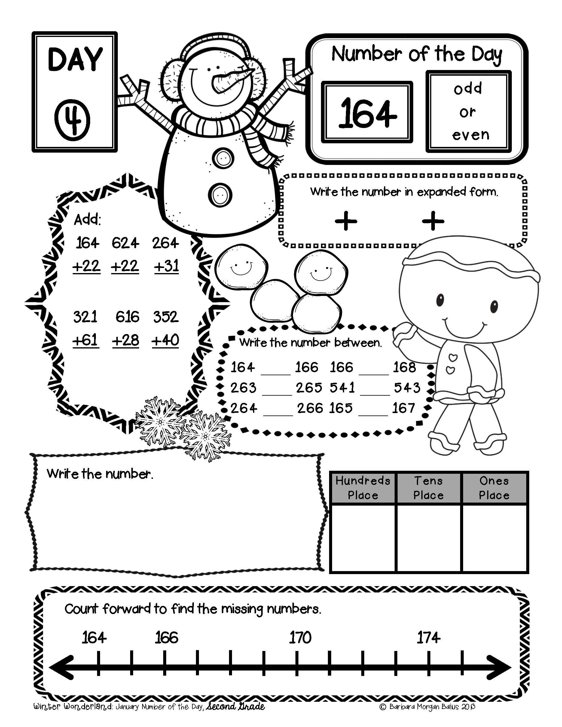Place Value Morning Work Number Sense Second Bundle Number