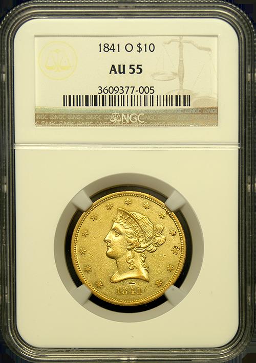 1841 O 10 Liberty Gold Coin Au 55 Rare Gold Coins Gold Coins Gold And Silver Coins