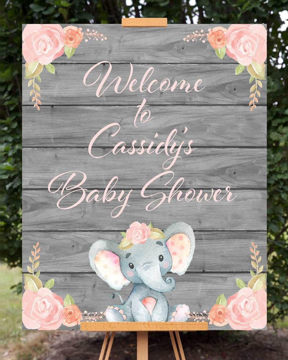 Personalized Pink Baby Theme Sign Baby Shower Decoration