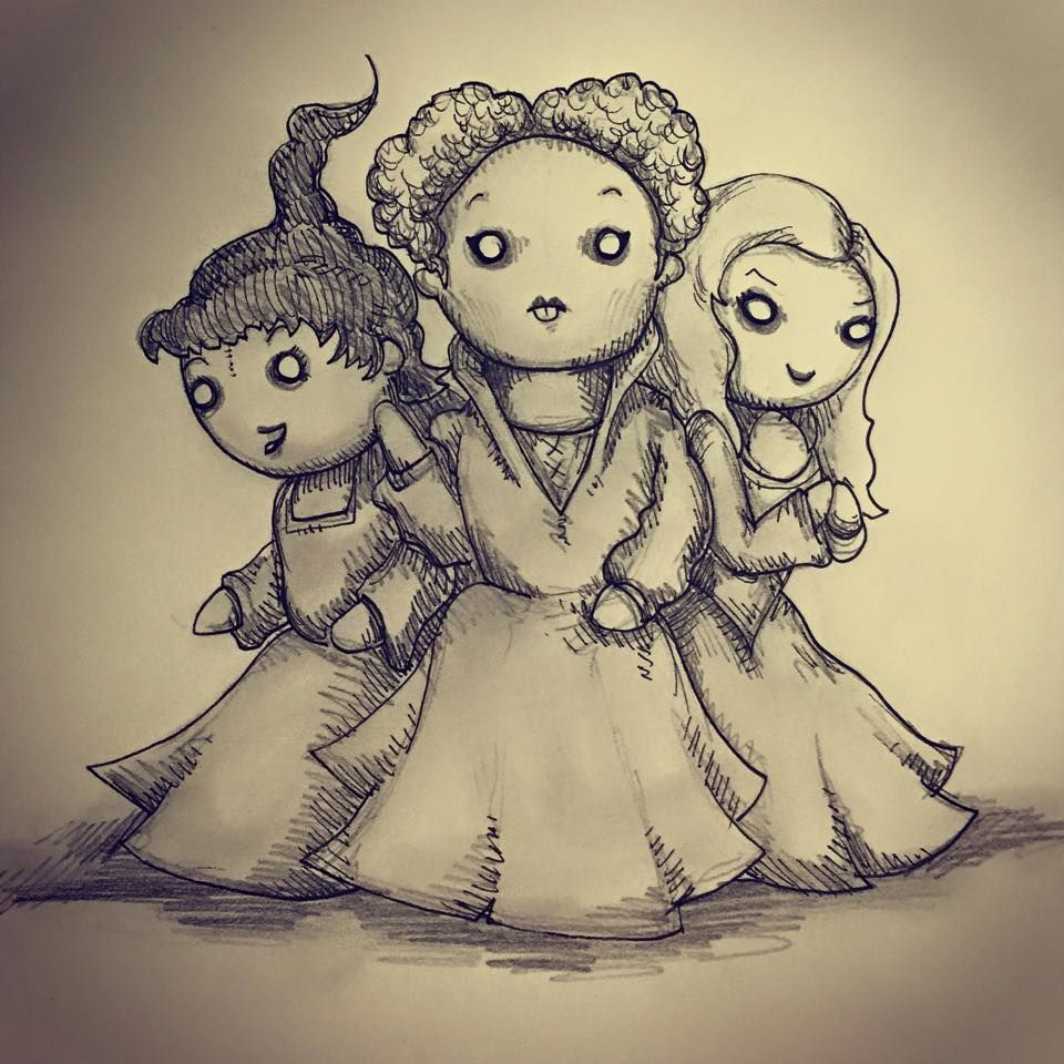 Pin by wtf on THE SANDERSON SISTERS Sisters drawing