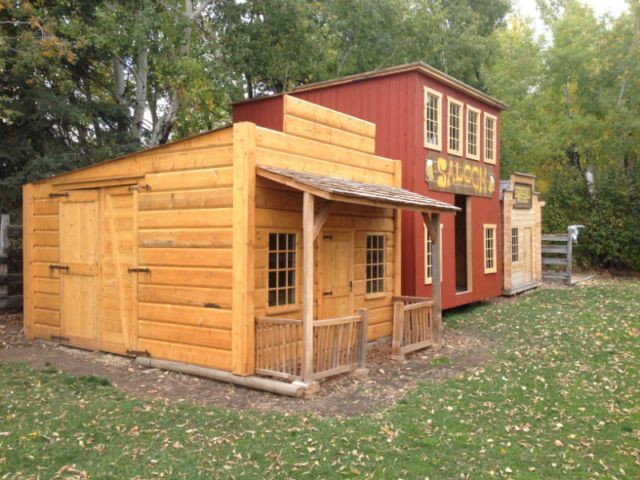 Garden Shed Kids Playhouse Western Cabin Pinterest