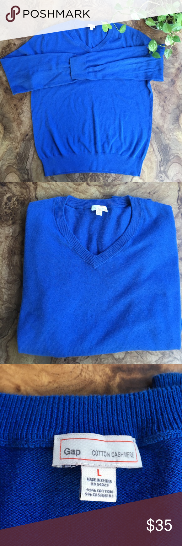 Gap men's v neck blue sweater. Gap men's v neck blue sweater ...