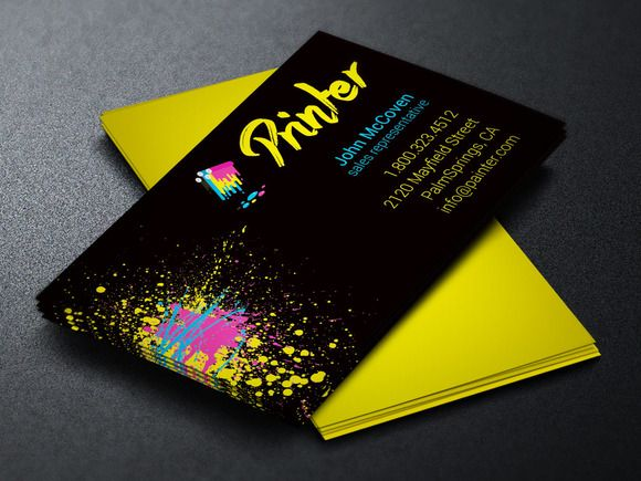 Printer Business Card Template Business Card Printer Printing Business Cards Business Card Psd
