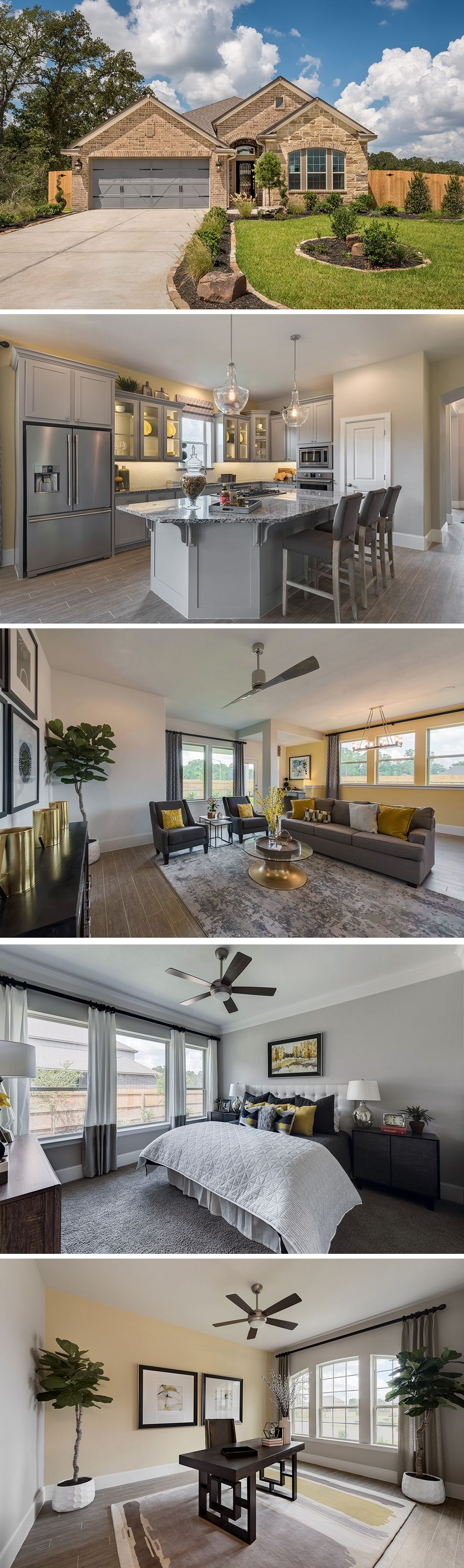 The Kepley In Castlegate Ii In College Station Tx Is A Beautiful Home With The Option Of 3 To 4 Bedrooms And 1 2 Full Bathro Dream House Home Interiors Dream