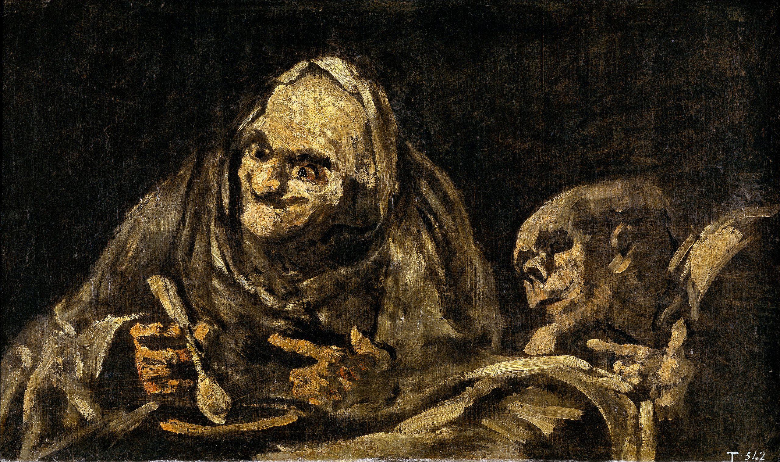 Viejos Comiendo Sopa Black Paintings Wikipedia The Free