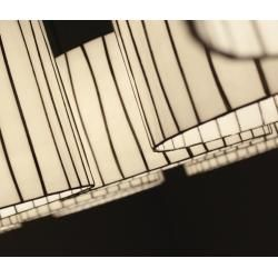 Photo of Arturo Alvarez designer pendant lamp Curvas Ø32cm beige Curvas Cv04 beige cable transparent