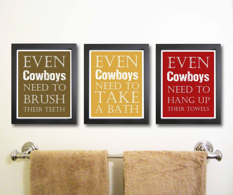 LOVE IT!! Nursery art print, Cowboy Art, Children Decor, Bathroom ...