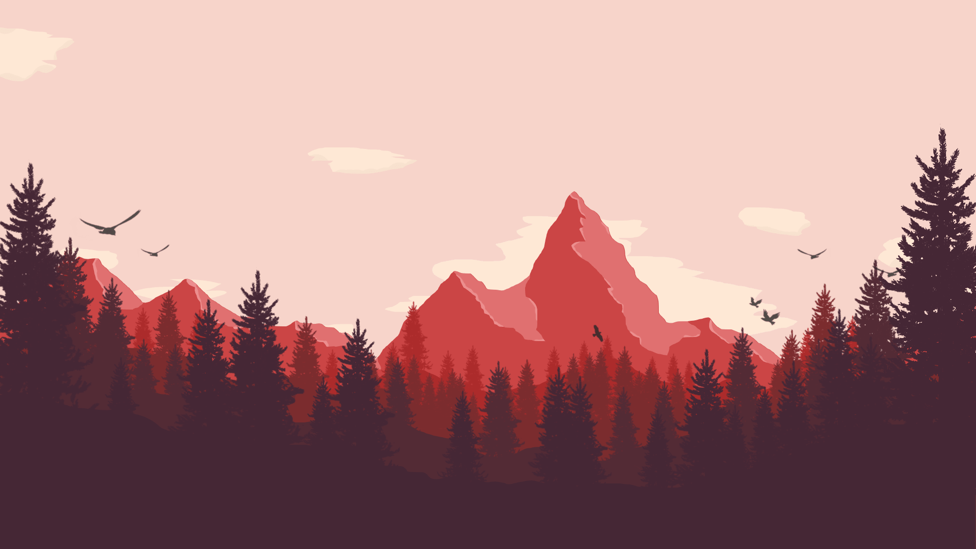 1920 x 1080 mountains low poly desktop wallpaper this - 2d nature wallpapers ...