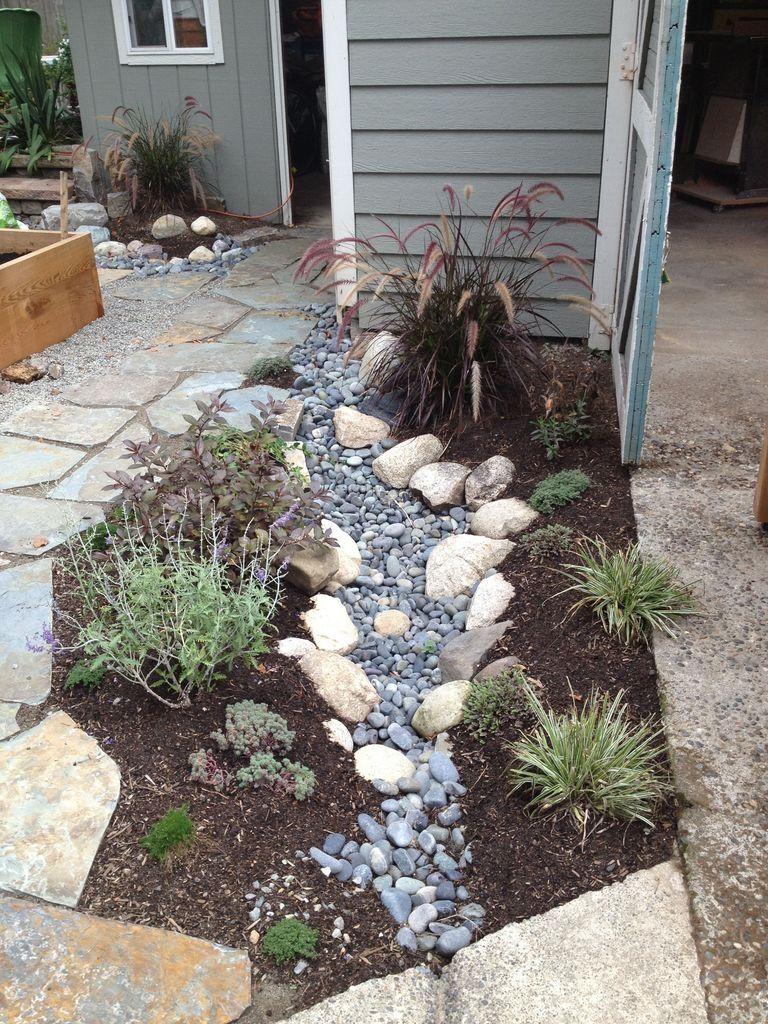 39 Easy DIY Project Ideas for Drainage Garden   Backyard ...