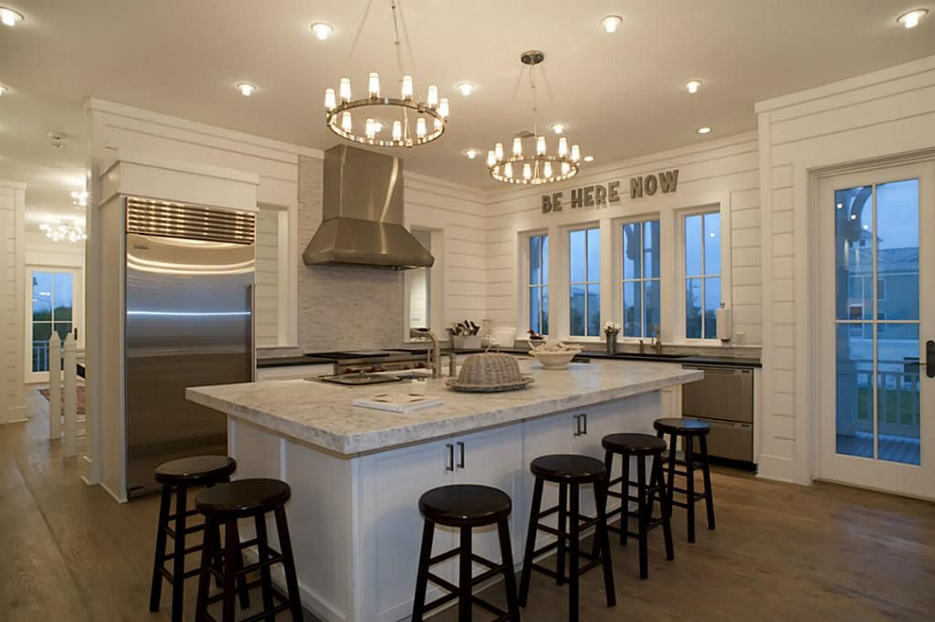 Honed carrera marble island home home kitchens kitchen