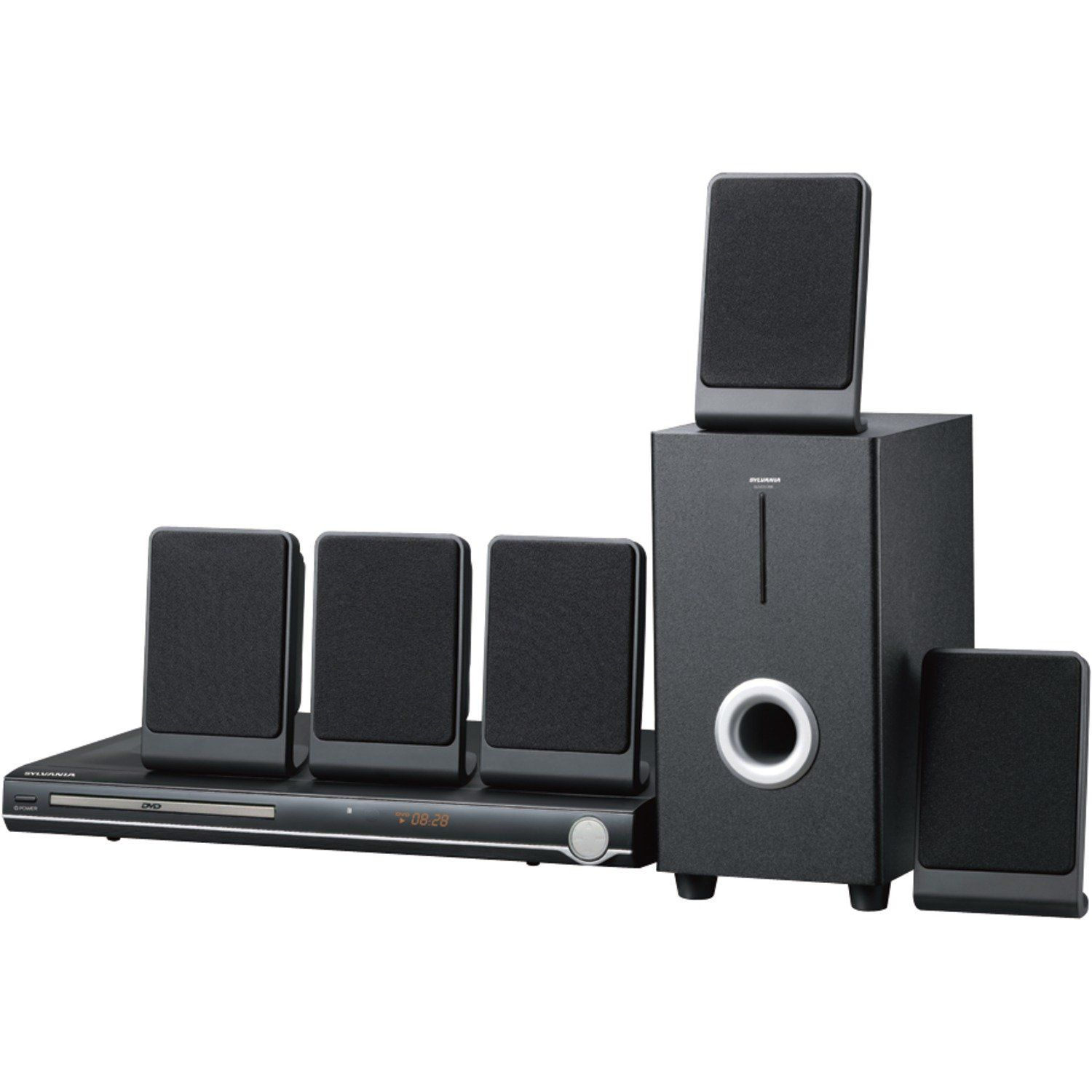 Sylvania Curtis 5.1 Channel Progressive Scan DVD Mini Bookshelf Home ...