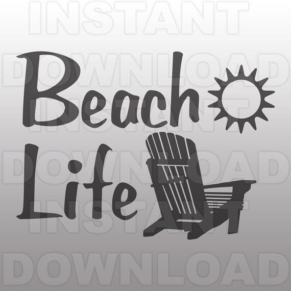 9aa4edc79a41c Beach Life with Chair SVG File