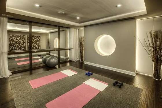 This $13,000 yoga room and dance studio features a floor ...
