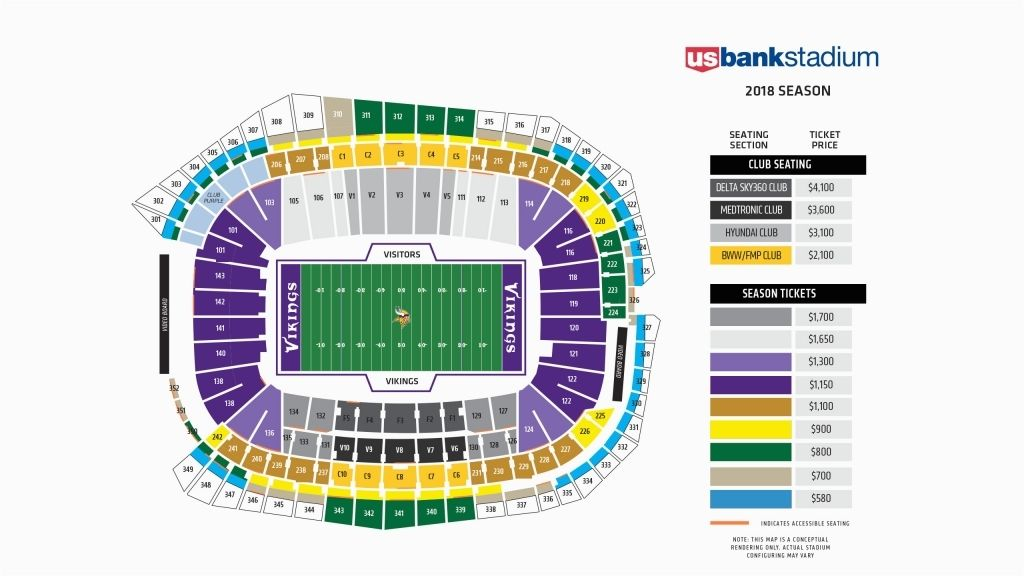 The Incredible Minnesota Vikings Chart U Of Michigan Football Seating Charts