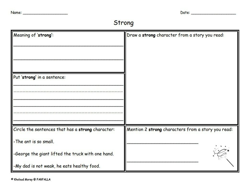 Story Character Traits Word Map In 2020 Character Trait Word Family Worksheets Vocabulary