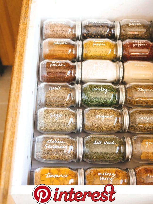 Simple Spice Drawer Organization   Simple Spice Drawer Organization