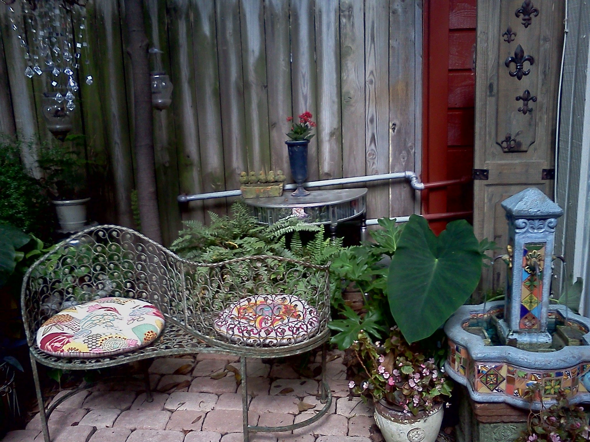 My Backyard. I Added The Old Door Panel (right Side) To Hid The