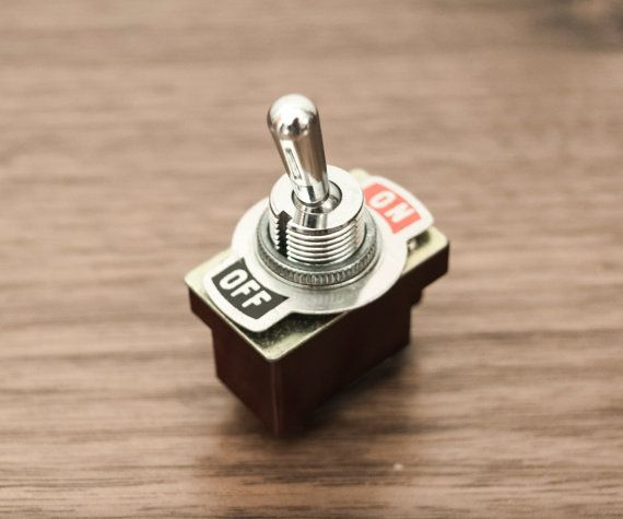 Antique / Vintage ON OFF Toggle Switch Interrupteur bascule ...