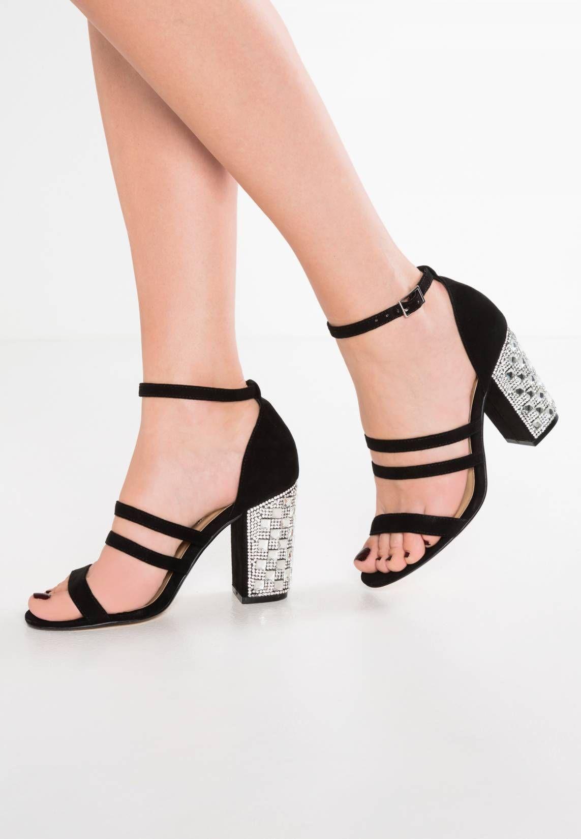 7e072b058ff8 SHADOW - High heeled sandals - black. Pattern plain. Sole synthetics. heel  height 3.5