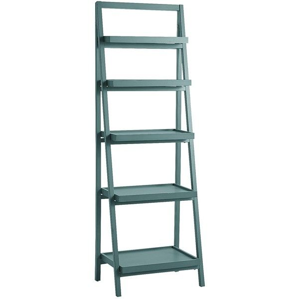 Pier 1 Imports Morgan Tall Shelf ($280) ❤ liked on Polyvore featuring home, furniture, storage & shelves, blue, display shelving, contemporary shelves, ladder display shelf, contemporary display shelf and contemporary shelf