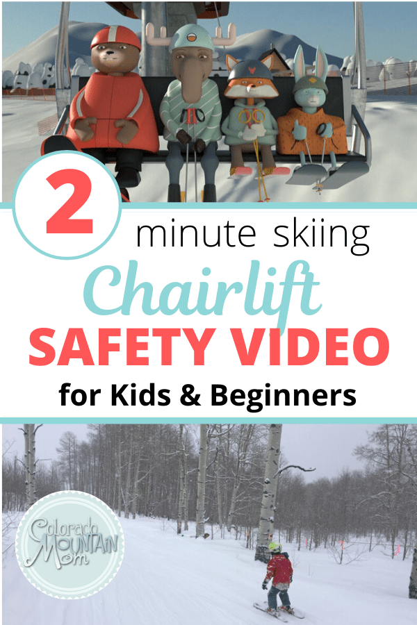 Ski Chairlift Safety Rules Video for Kids and Beginners