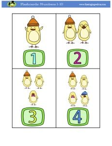 Flashcards Numbers 1 10 With Cute Chicks They Are A Perfect Supplement To Our Video Counting From 1 To 10 Flashcards Creative Arts Crafts Numbers 1