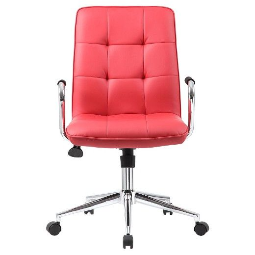 Modern Office Chair With Chrome Arms Red Boss Office Products Modern Office Chair Black Office Chair Office Chair