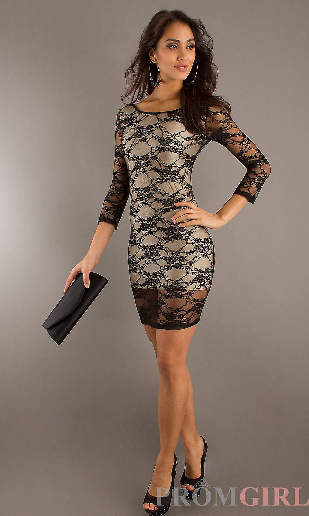 Black lace cocktail dress if i had the body pinterest black